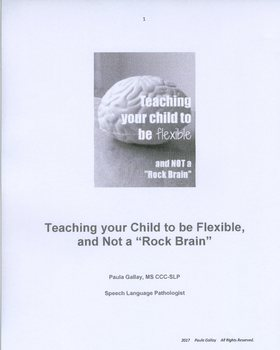 Autism Spectrum: Teaching your Child to be Flexible