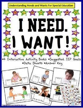 Autism Speech Language Writing BUNDLE - WANTS and NEEDS Interactive Books