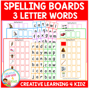 Spelling Boards 3-letter