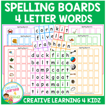 Spelling Boards 4-letter words