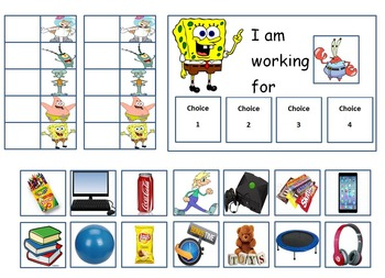 Autism: Spongebob Token Board With Feelings