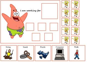 Autism:  Spongebob and Patrick Token Boards