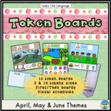 Autism Visuals Spring Themed Token Boards