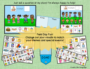 Spring Themed Token Boards and First Then Special Education Visuals