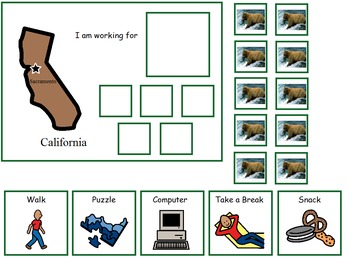 Autism:  State of California Token Board