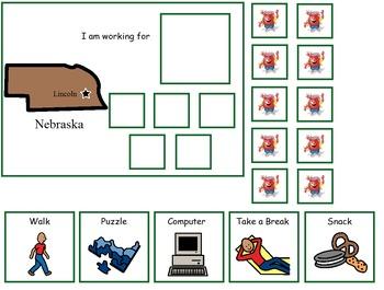 Autism:  State of Nebraska Token Board