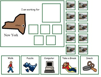 Autism:  State of New York Token Board