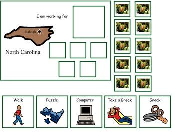 Autism:  State of North Carolina Token Board