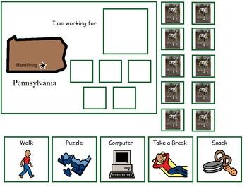 Autism:  State of Pennsylvania Token Board