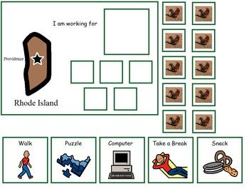 Autism:  State of Rhode Island Token Board