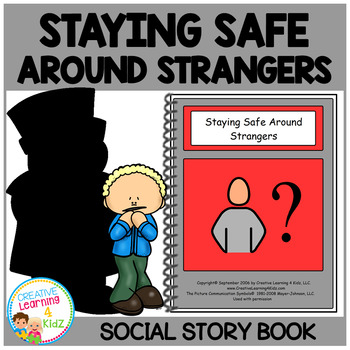 Social Story Staying Safe Around Strangers Book Autism