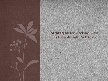 Autism Strategies