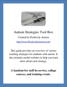 Autism Strategies Toolbox: A Handout for Training and Quick Reference
