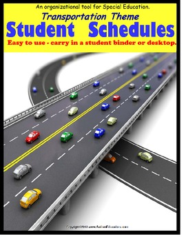 Autism Student Schedules for Daily Organization Transportation Theme