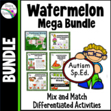 ESY Summer Activities Basic Skills Watermelon Autism Mega Bundle