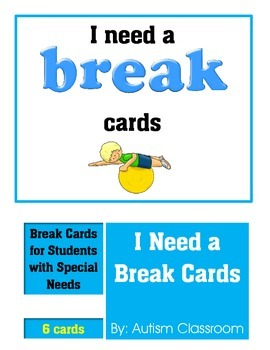 image regarding Break Cards for Students Printable identify I Require A Crack Card Worksheets Education Components TpT