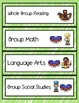 (Autism Support) Schedule Cards for Centers and Classroom