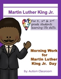 Black History Month ~ Martin Luther King Jr. Morning Work Free