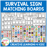 Community Safety Survival Signs & Matching Boards