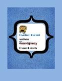 Autism Teacher/Parent Emergency Travel Label Pack