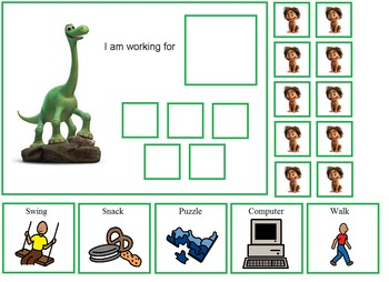 Autism:  The Good Dinosaur Token Board