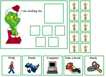 Autism:  The Grinch and Frosty Token Boards