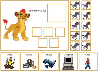 Autism:  The Lion Guard Token Boards