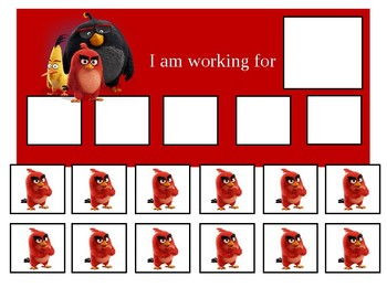 Autism Token Board Angry Birds