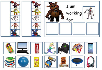 Autism: Token Board - Five Nights At Freddys