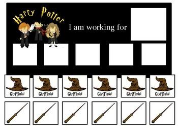 Autism Token Board Harry Potter