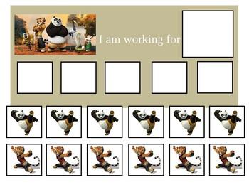 Autism Token Board Kung Fu Panda