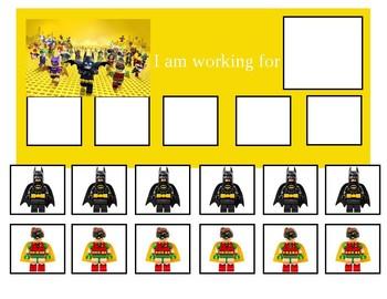 Autism Token Board Lego Batman Movie