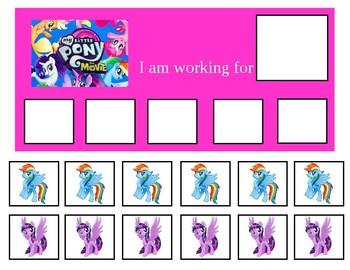 Autism Token Board- My Little Pony
