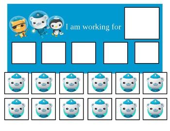 Autism Token Board Octonauts
