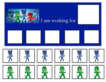 Autism Token Board PJ Masks