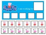 Autism Token Board Peppa Pig