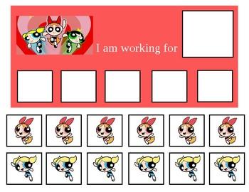 Autism Token Board Powerpuff Girls