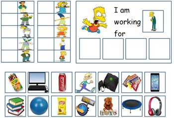 Autism: Token Board (Simpsons & South Park)