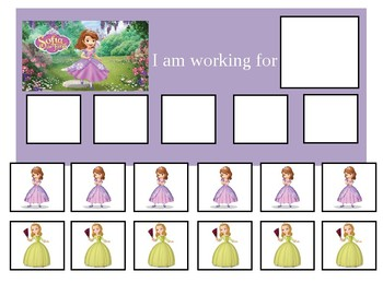 Autism Token Board Sofia the First