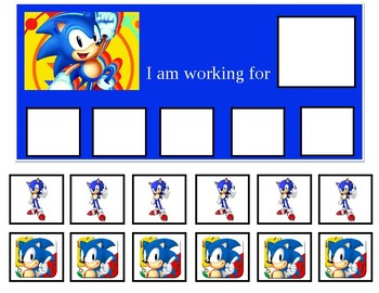 image about Sonic Gift Card Printable known as Autism Token Board Sonic the Hedgehog