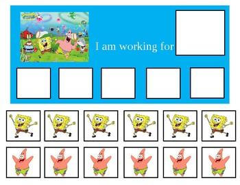 Autism Token Board Spongebob Squarepants