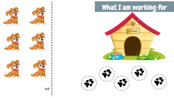 Autism Token Boards : Dog house