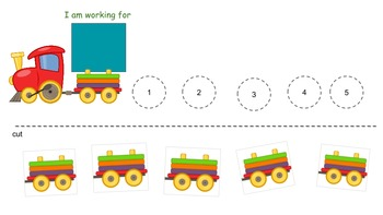 Autism Token Boards : Toy Train