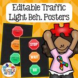 Autism Behavior Visuals | Editable Traffic Light Behavior Chart