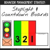 Countdown & Stoplight Boards {Transition Strategy}