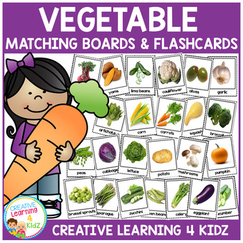 Vegetable Matching Boards & Flashcards