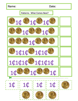 Autism: Visual Learning Math Patterns & Money