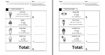 Autism:  Visual Menu and Worksheets