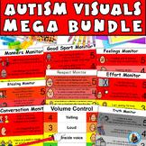 Autism Visual Monitor MEGA Bundle: Teach Appropriate Behavior- Distance Learning