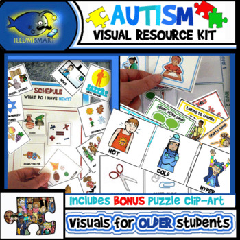 Autism Visual Resource Kit! Over 300 Pieces! (Cards, Posters, Bonus Clip-Art!)